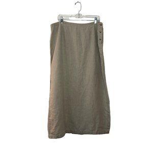 Eddie Bauer Linen skirt Size 20